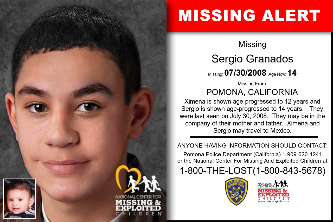 SERGIO_GRANADOS missing in California