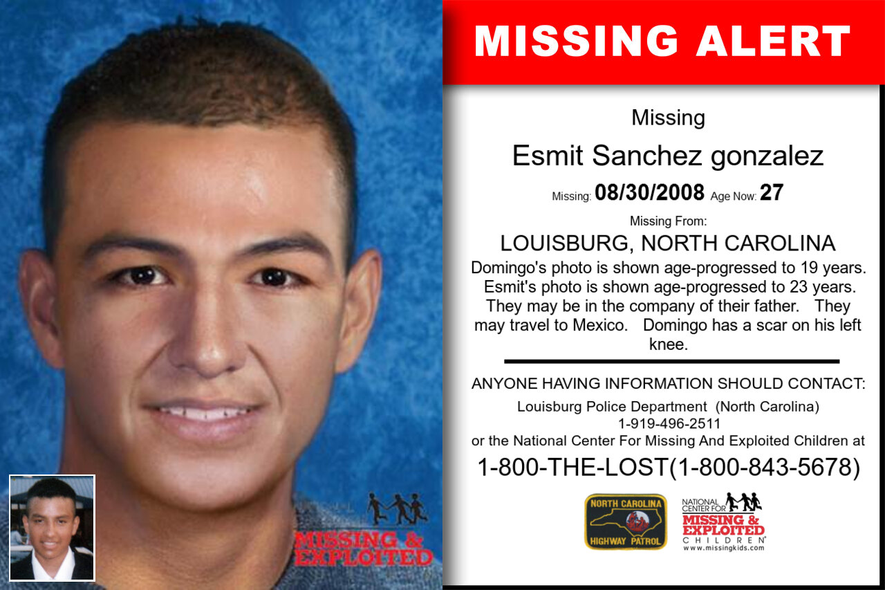 ESMIT_SANCHEZ_GONZALEZ missing in North_Carolina