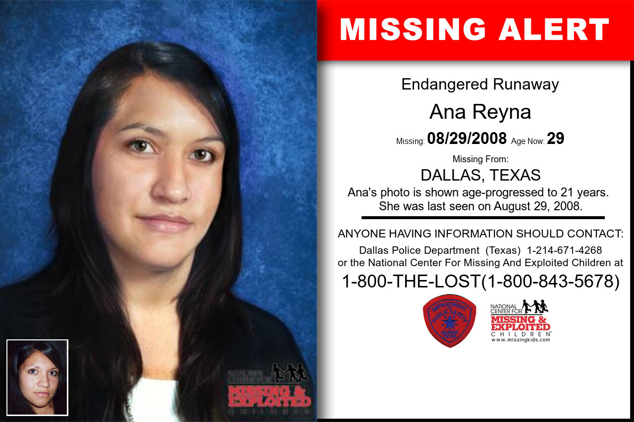 Ana_Reyna missing in Texas