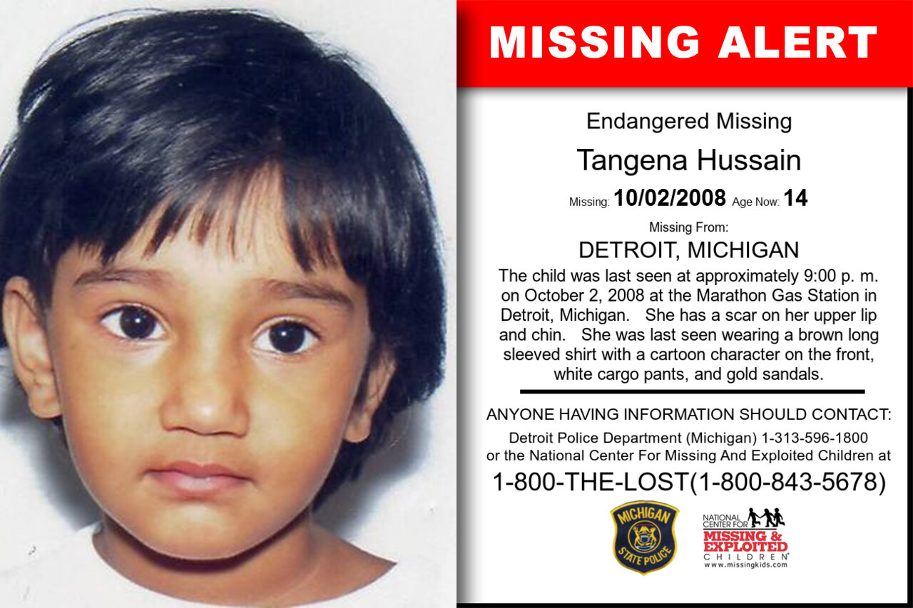 TANGENA_HUSSAIN missing in Michigan