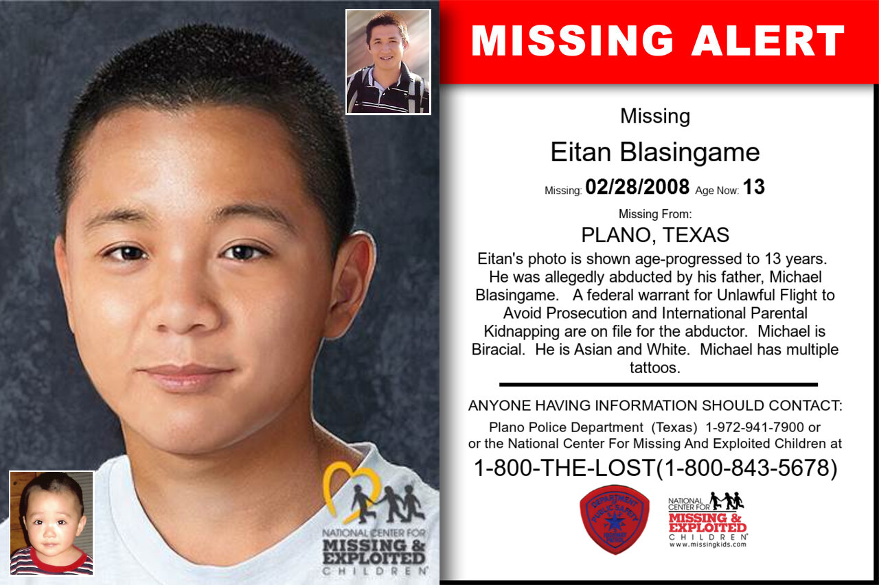 EITAN_BLASINGAME missing in Texas