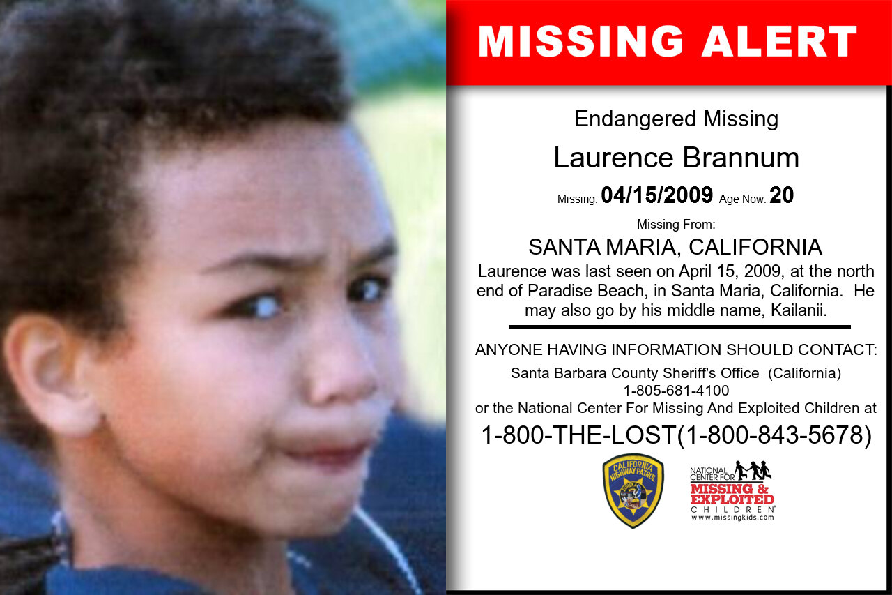 Laurence_Brannum missing in California
