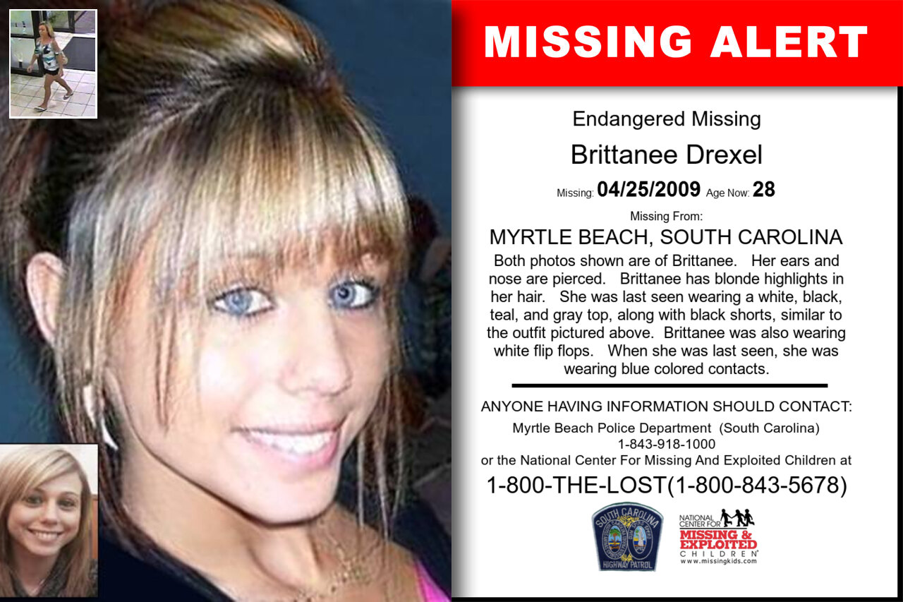 Brittanee_Drexel missing in South_Carolina