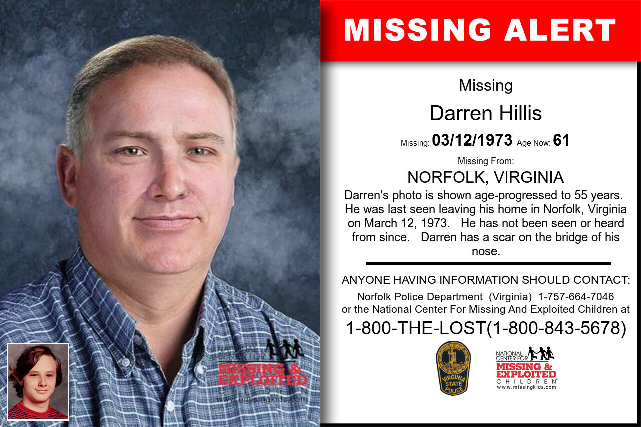 DARREN_HILLIS missing in Virginia