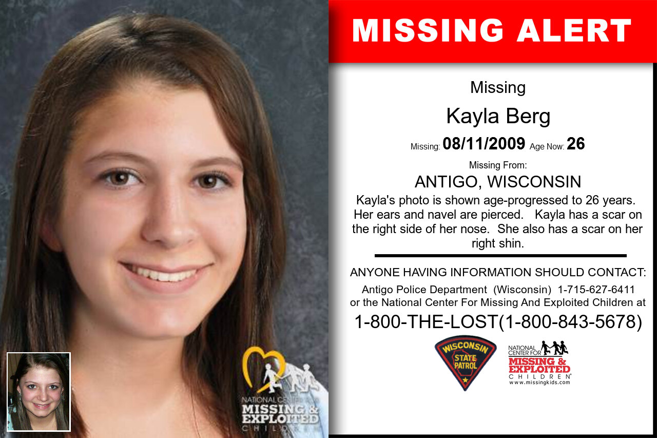 KAYLA_BERG missing in Wisconsin