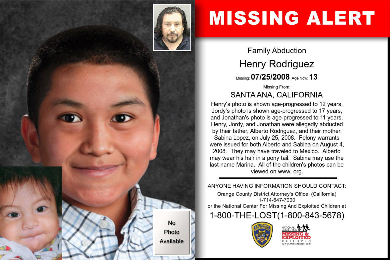 Henry_Rodriguez missing in California