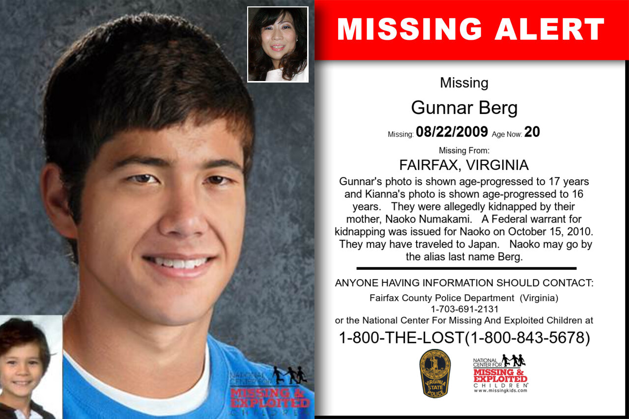 GUNNAR_BERG missing in Virginia