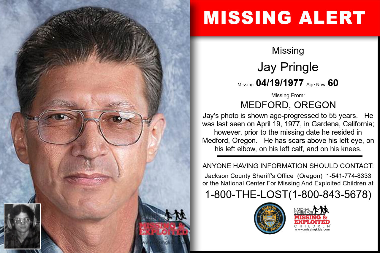 JAY_PRINGLE missing in Oregon