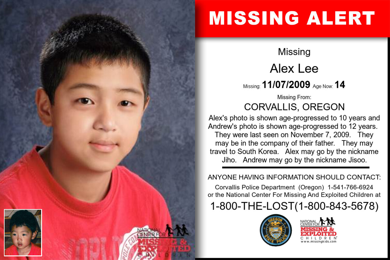 Alex_Lee missing in Oregon