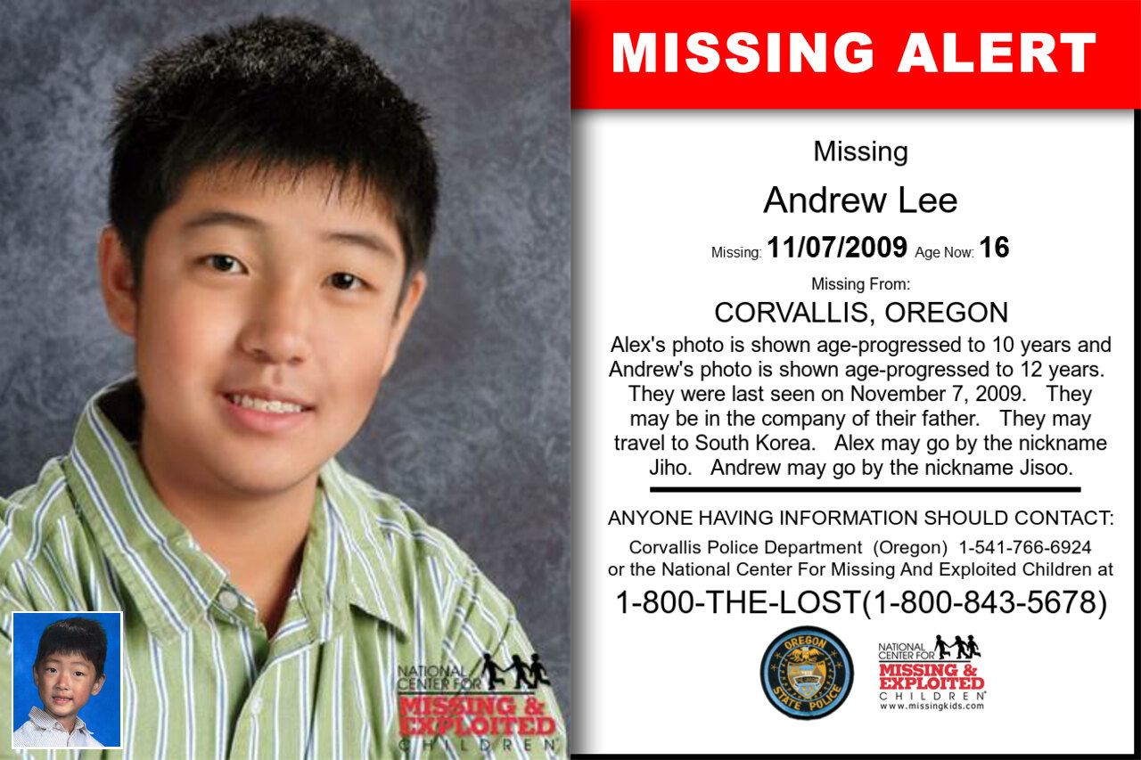 ANDREW_LEE missing in Oregon
