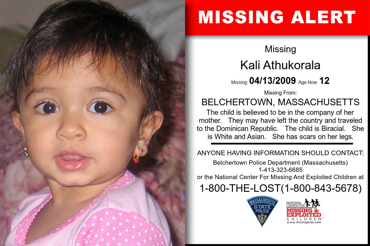 KALI_ATHUKORALA missing in Massachusetts