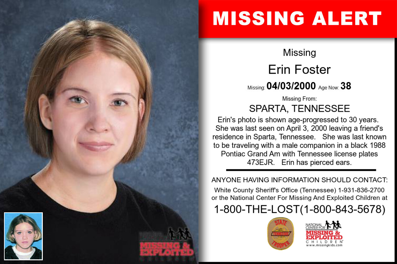 ERIN_FOSTER missing in Tennessee