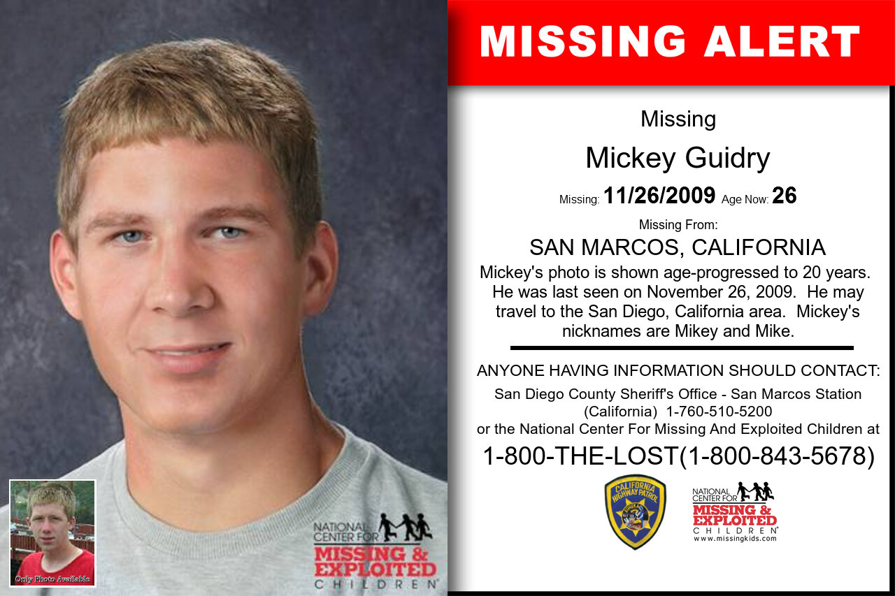 Mickey_Guidry missing in California