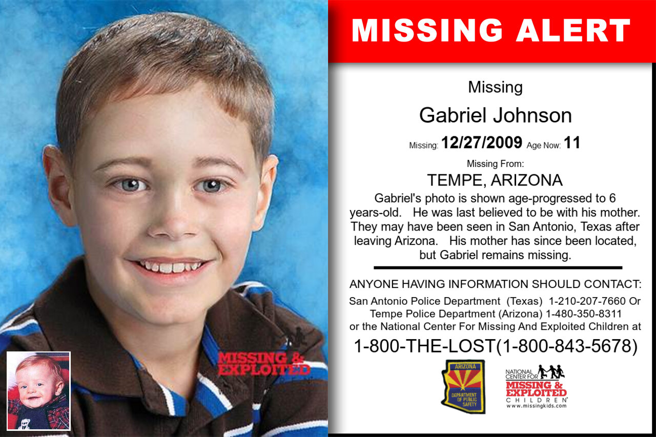 GABRIEL_JOHNSON missing in Arizona