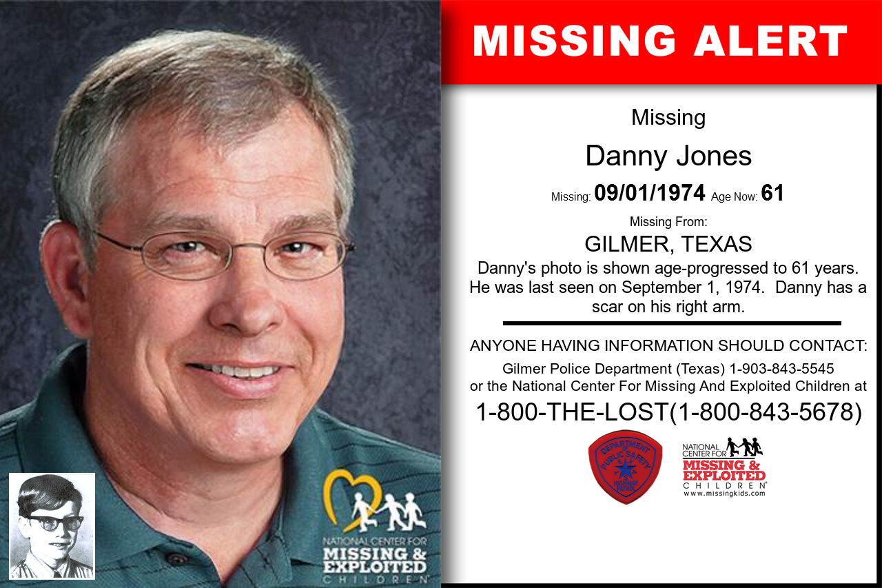 DANNY_JONES missing in Texas
