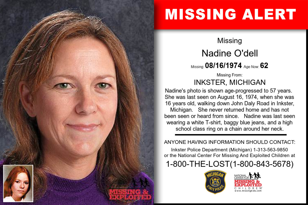 NADINE_O'DELL missing in Michigan