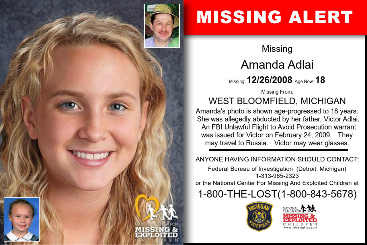 Amanda_Adlai missing in Michigan