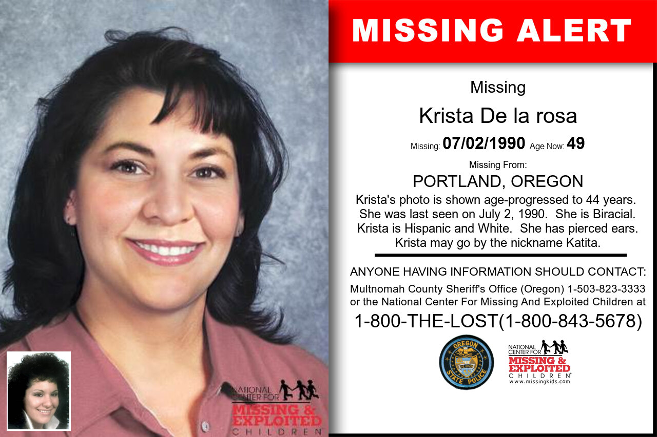 Krista_De_la_rosa missing in Oregon