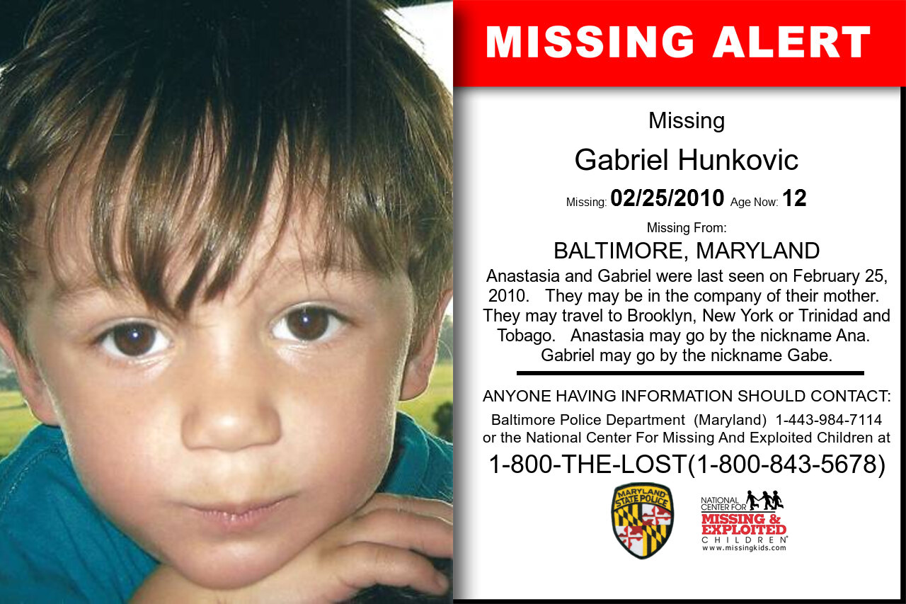 Gabriel_Hunkovic missing in Maryland