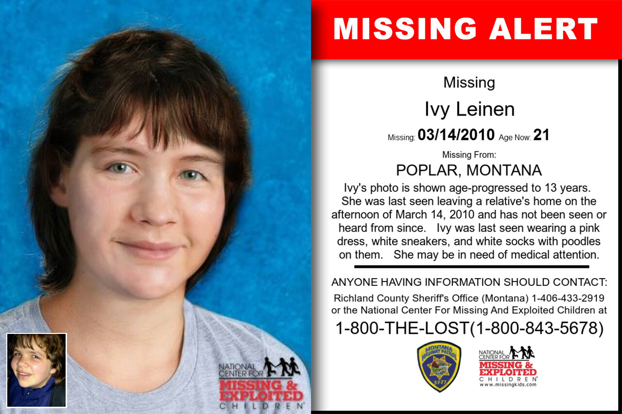 IVY_LEINEN missing in Montana