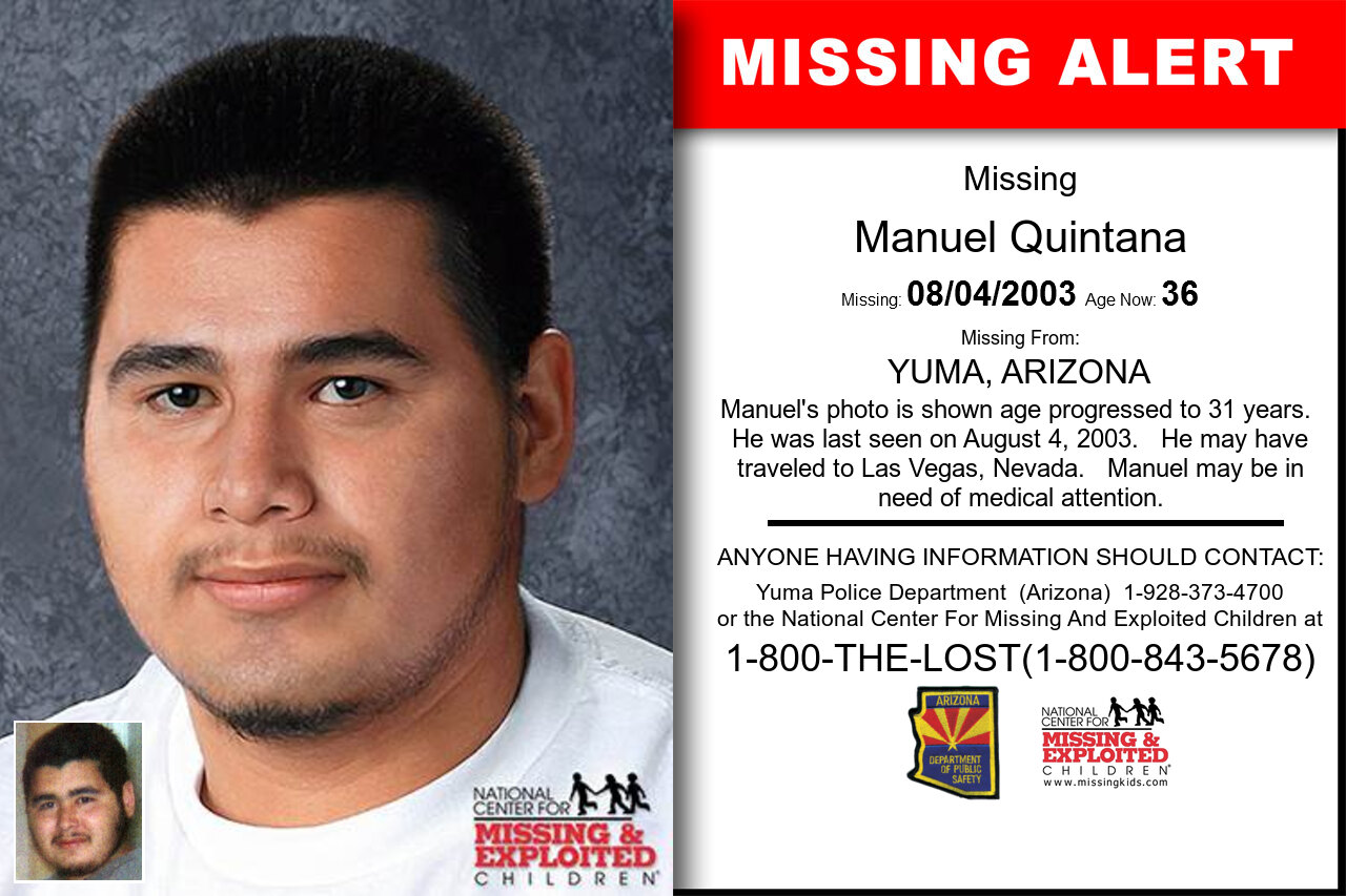 MANUEL_QUINTANA missing in Arizona