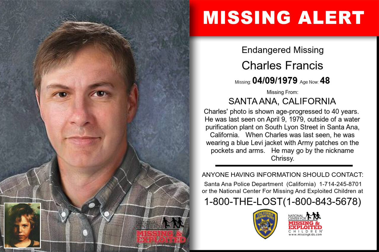 CHARLES_FRANCIS missing in California