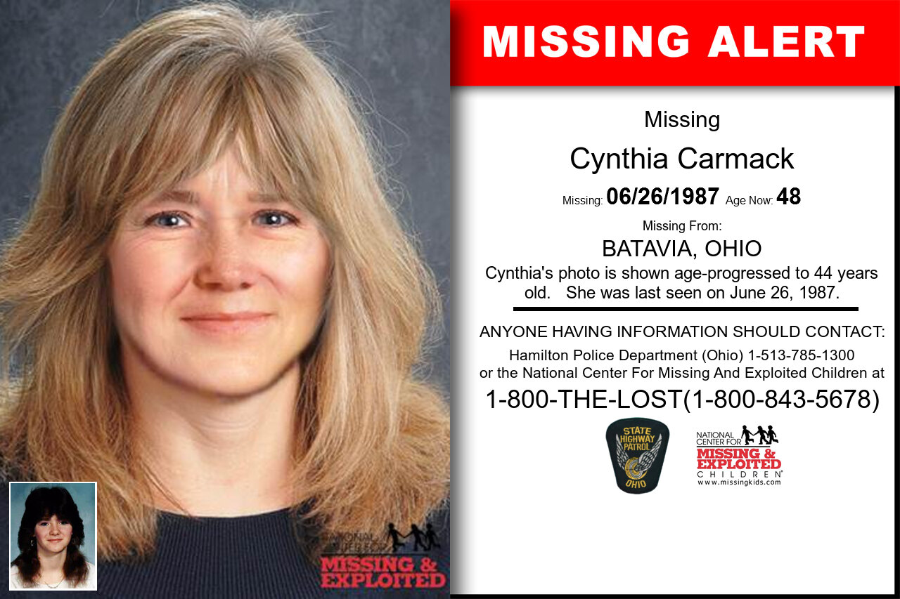 CYNTHIA_CARMACK missing in Ohio