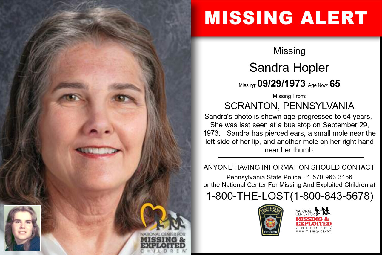 SANDRA_HOPLER missing in Pennsylvania