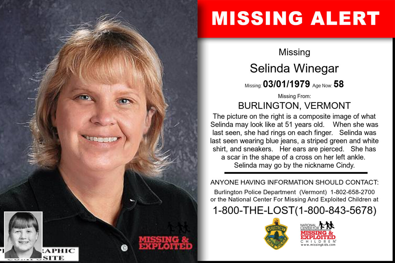 SELINDA_WINEGAR missing in Vermont
