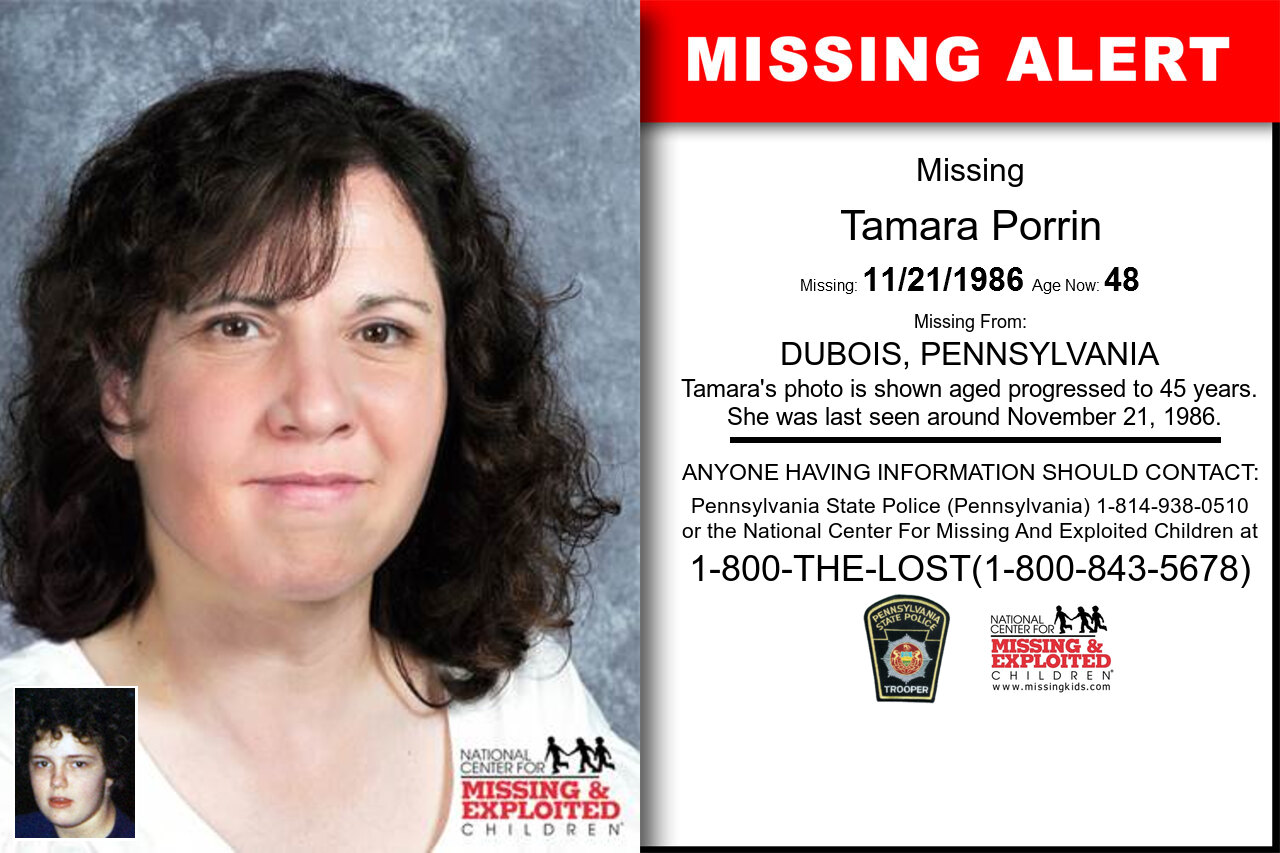 TAMARA_PORRIN missing in Pennsylvania