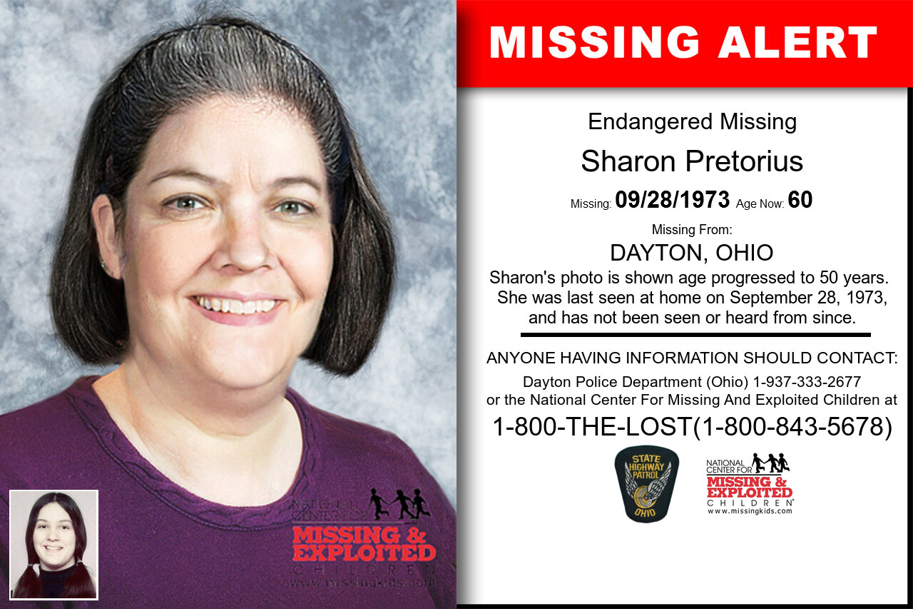 SHARON_PRETORIUS missing in Ohio