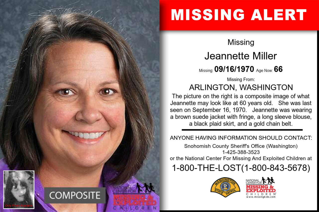 JEANNETTE_MILLER missing in Washington