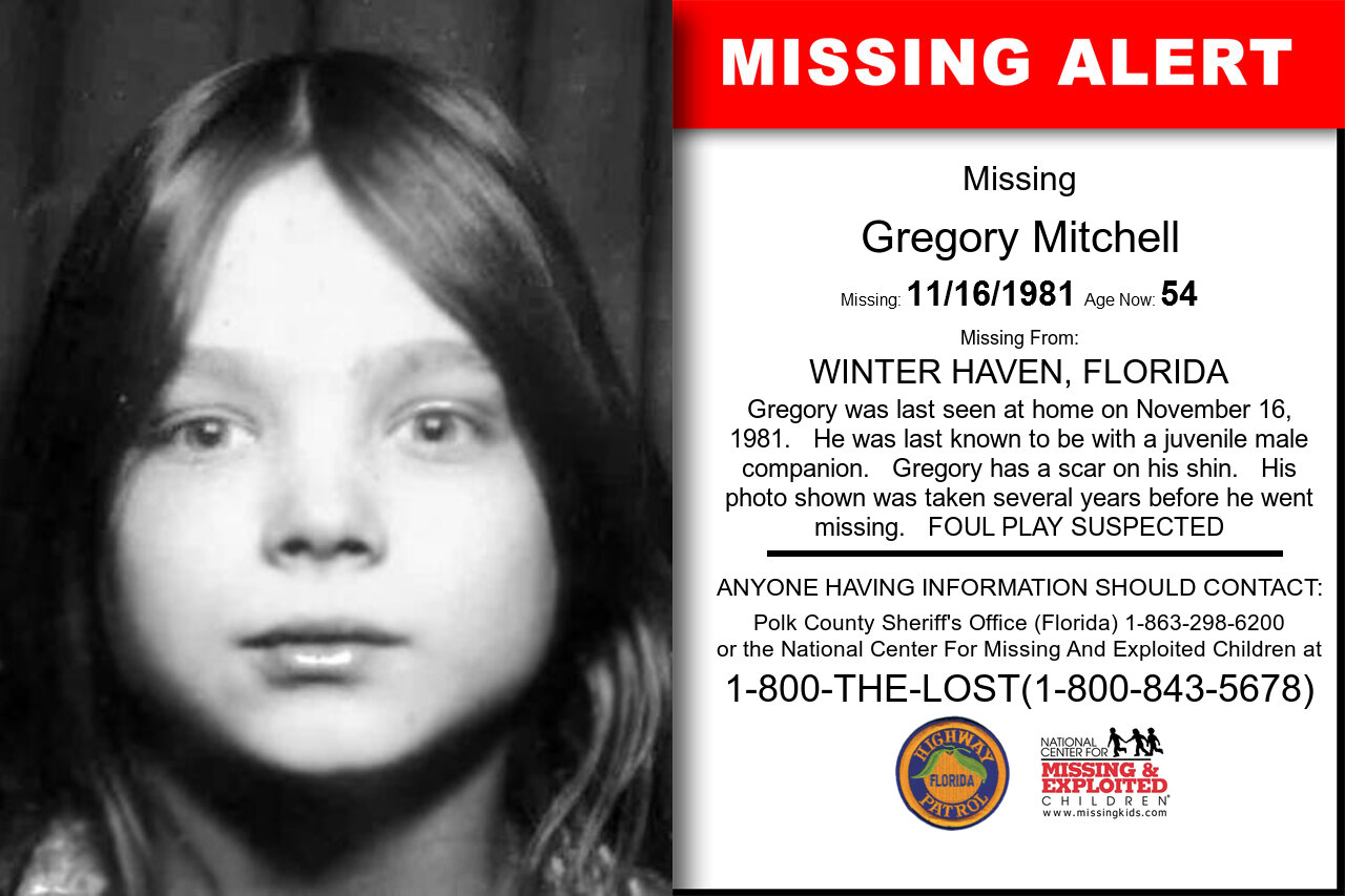 GREGORY_MITCHELL missing in Florida
