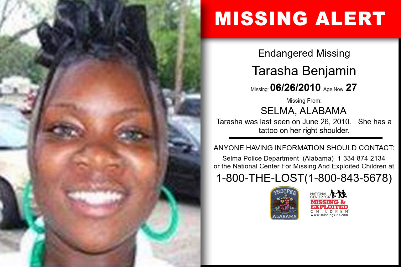 TARASHA_BENJAMIN missing in Alabama