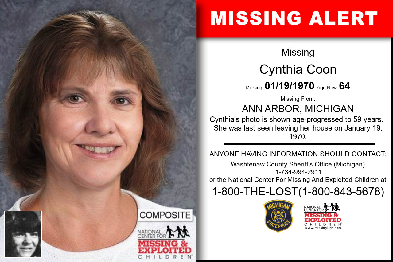 CYNTHIA_COON missing in Michigan