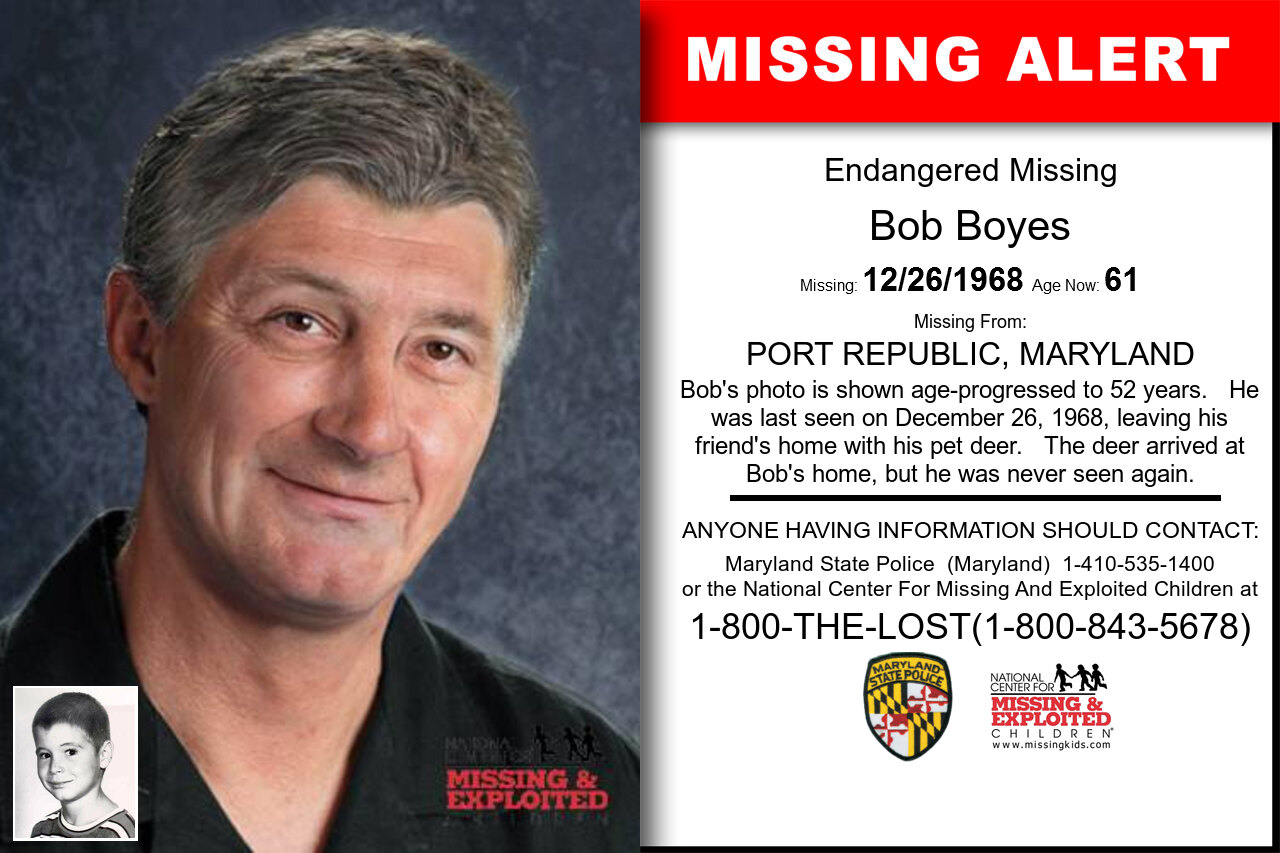 BOB_BOYES missing in Maryland