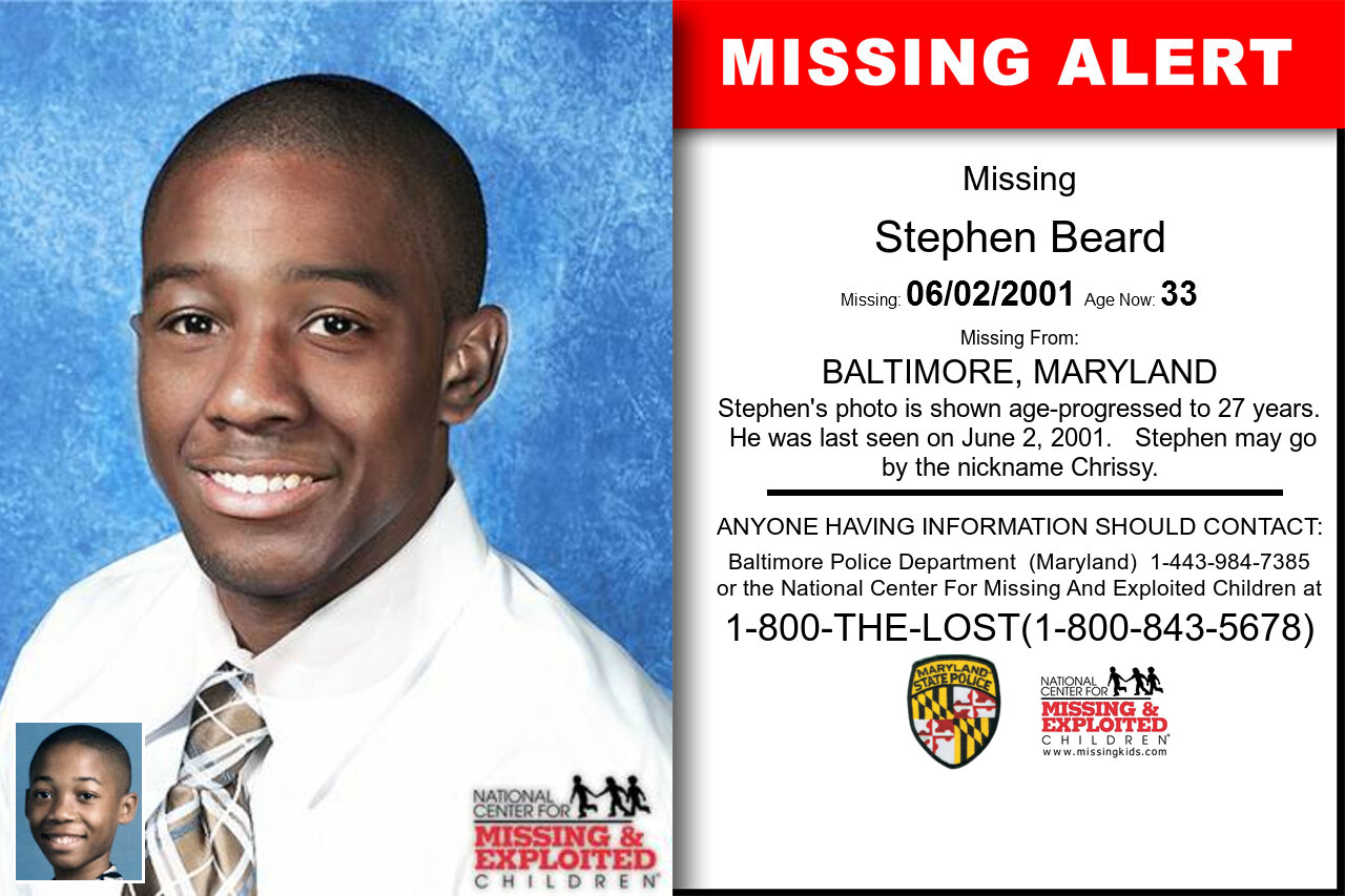 STEPHEN_BEARD missing in Maryland