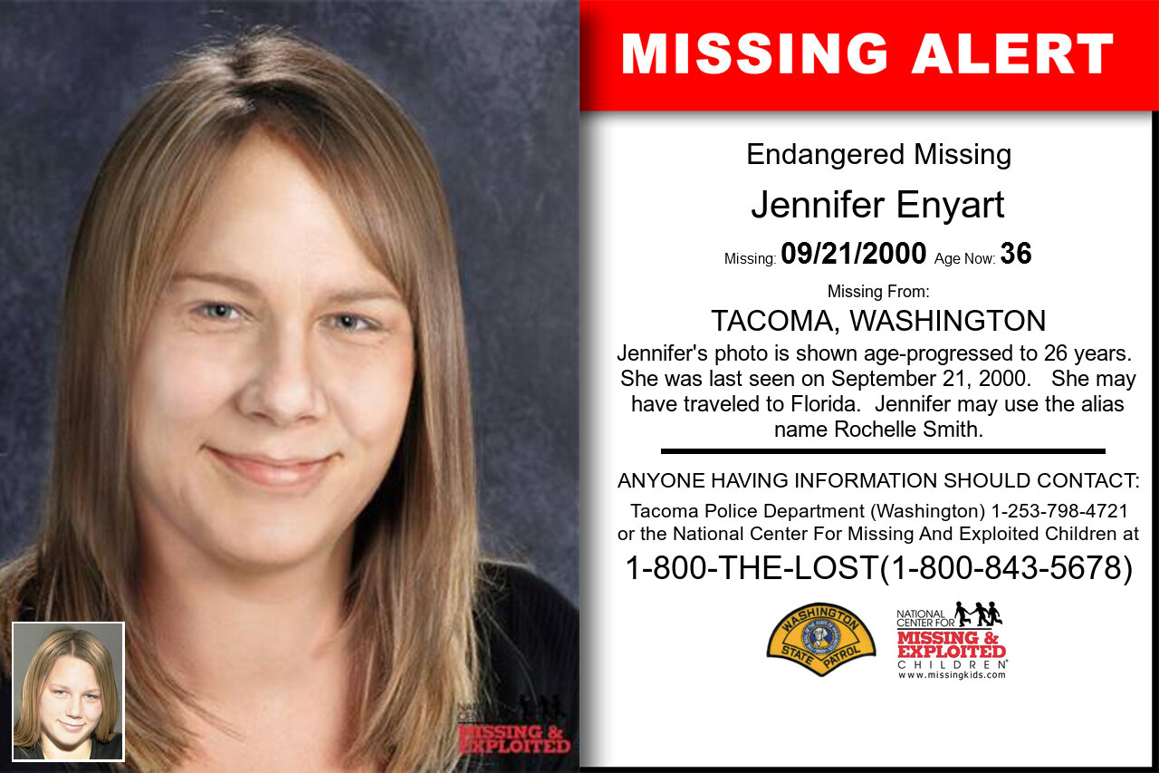 JENNIFER_ENYART missing in Washington