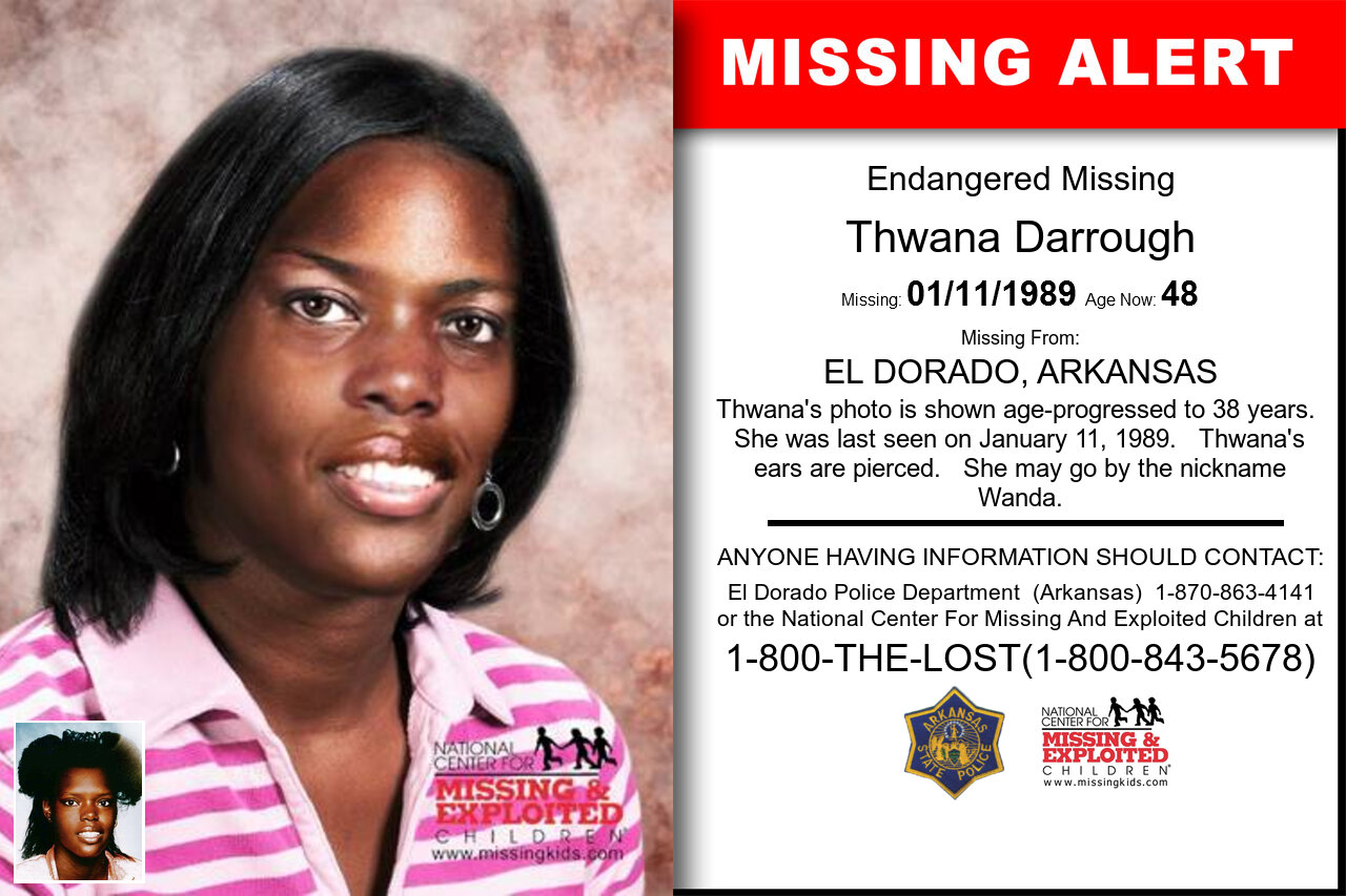 Thwana_Darrough missing in Arkansas
