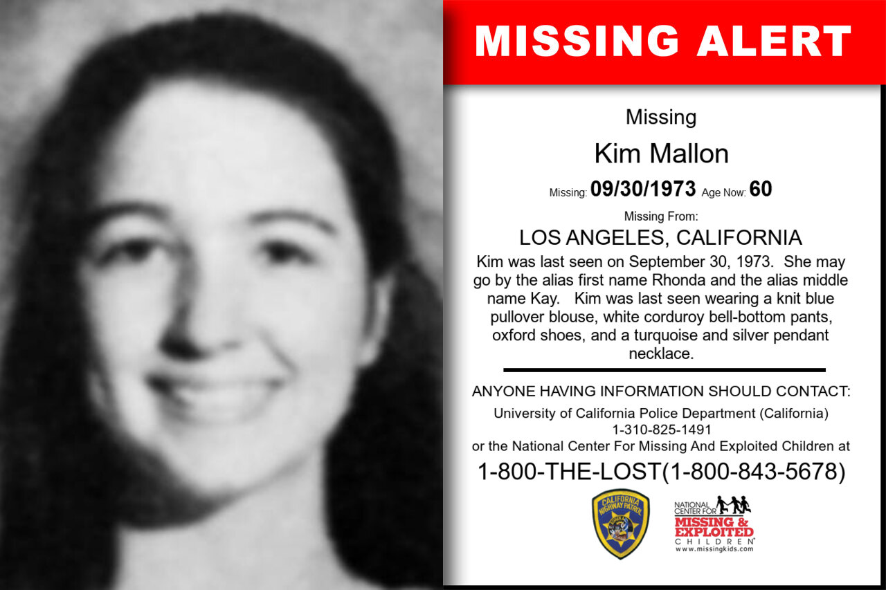 KIM_MALLON missing in California
