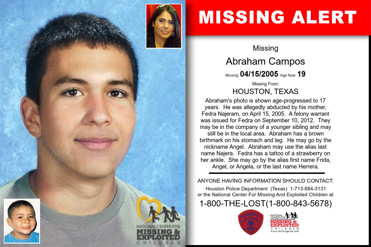 ABRAHAM_CAMPOS missing in Texas