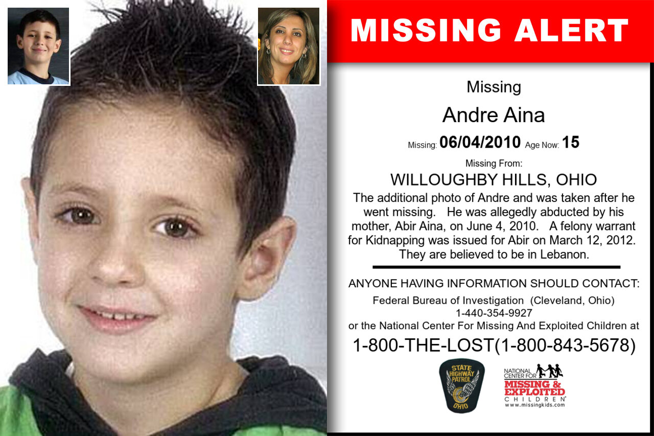 ANDRE_AINA missing in Ohio