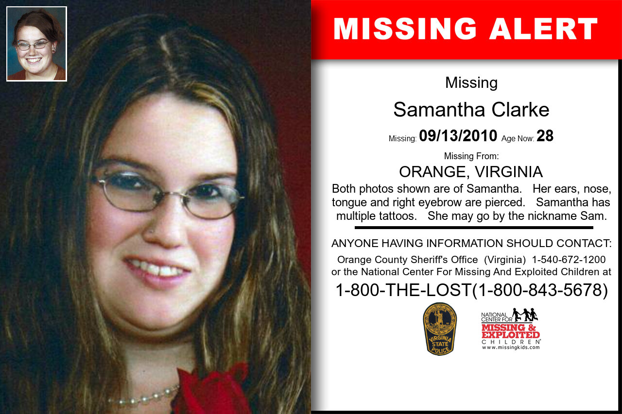 SAMANTHA_CLARKE missing in Virginia
