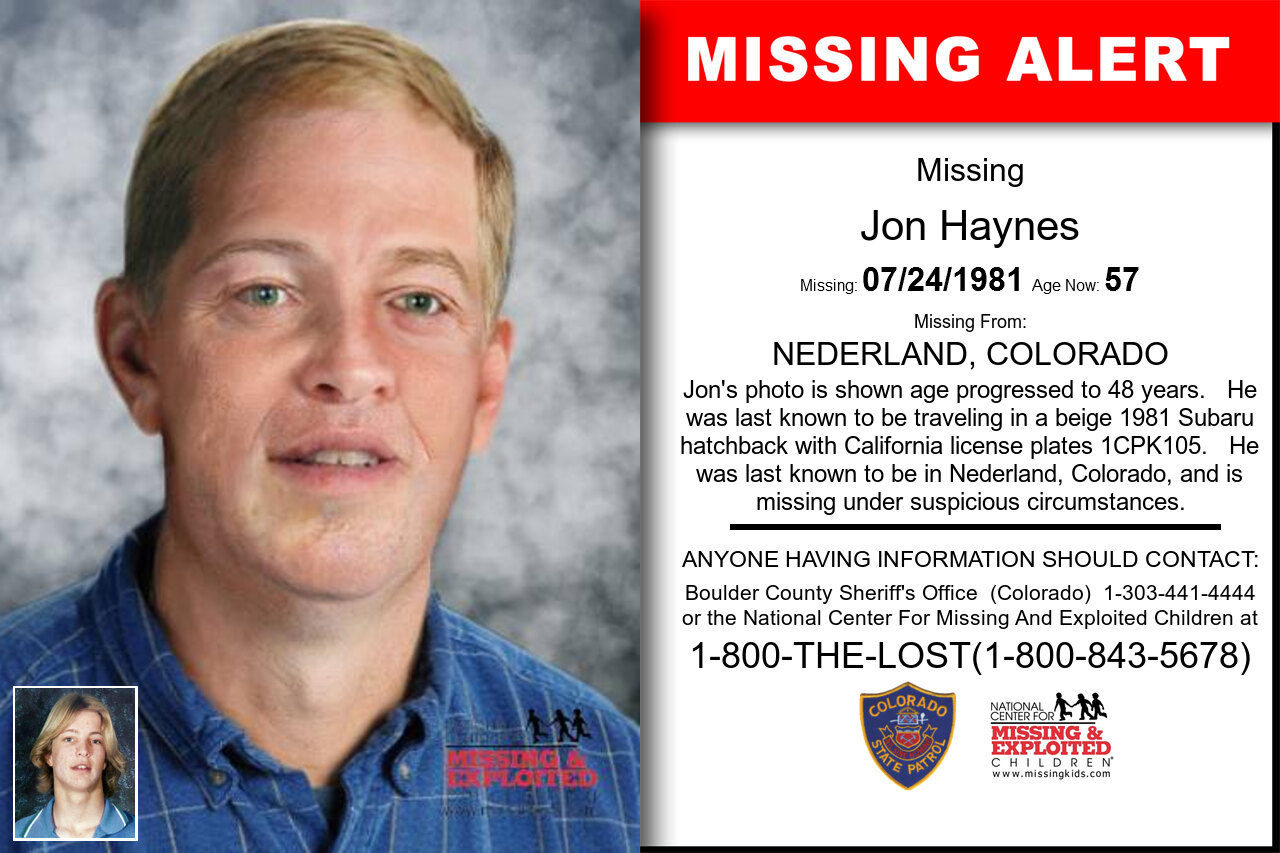 JON_HAYNES missing in Colorado