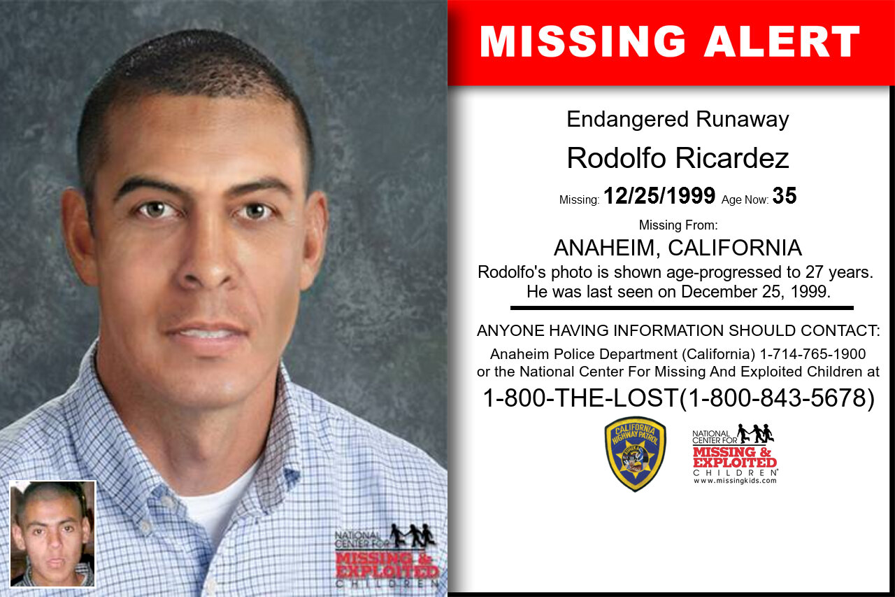 Rodolfo_Ricardez missing in California