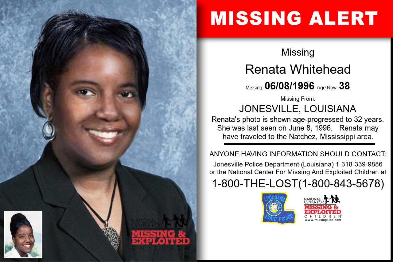 RENATA_WHITEHEAD missing in Louisiana