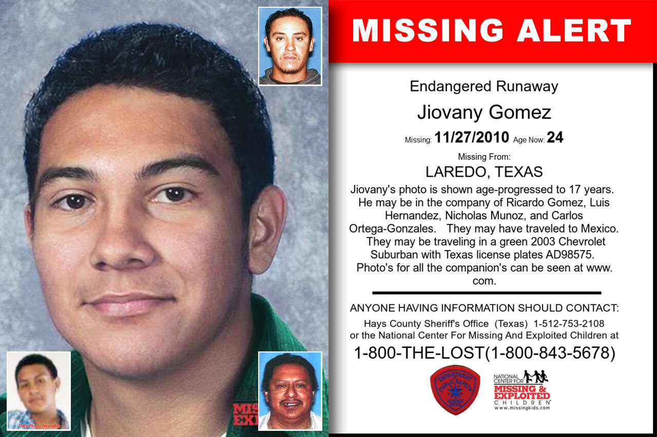 Jiovany_Gomez missing in Texas