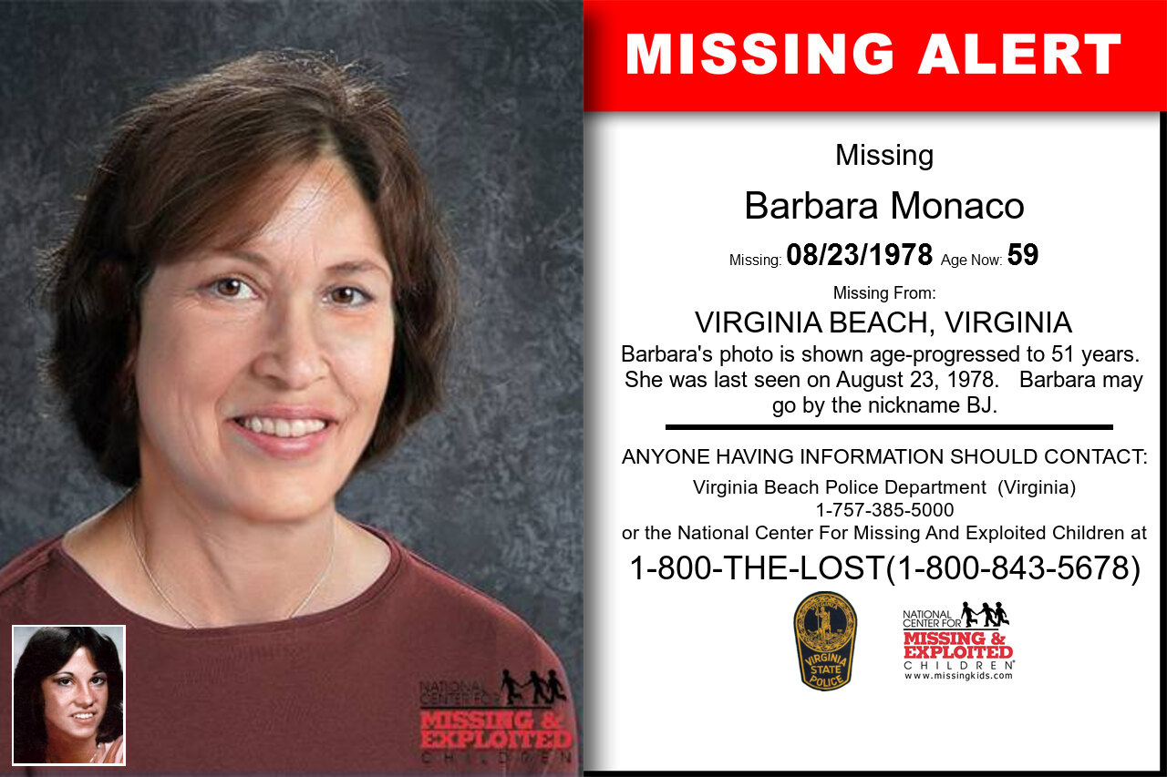 Barbara_Monaco missing in Virginia