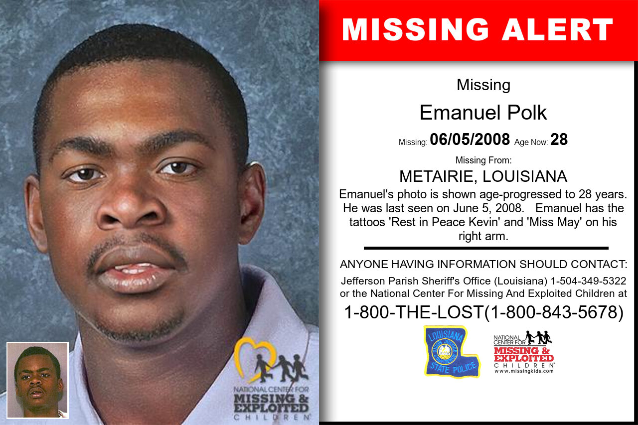 Emanuel_Polk missing in Louisiana