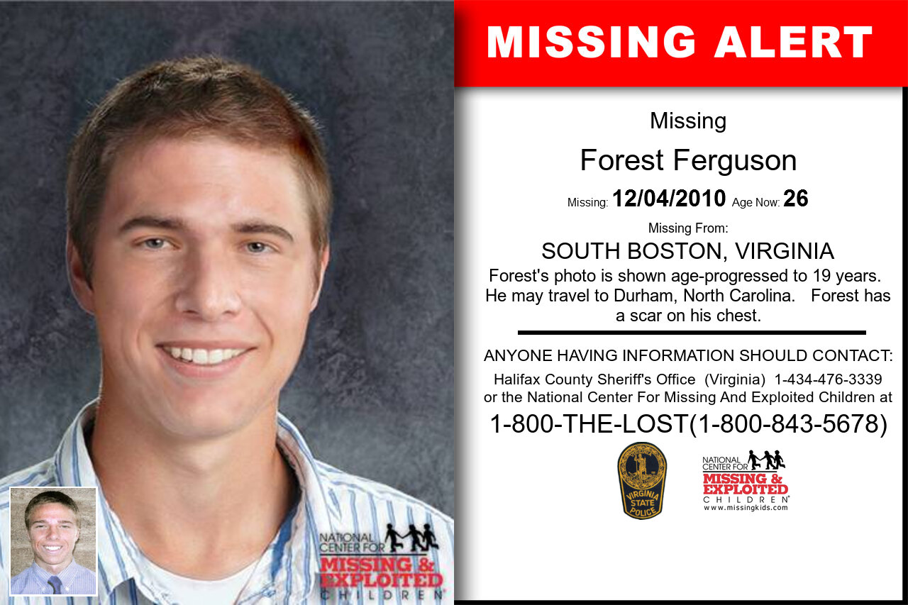 FOREST_FERGUSON missing in Virginia
